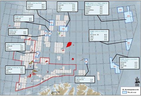 Nye områder: For første gang på 20 år har myndighetene åpnet helt nye områder i nord for oljeleting og utvinning. Kart: OD