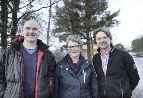 TINGVOLL: Forskingsmiljøet i Tingvoll har for tiden mange spennende prosjekt. Fra venstre Håvard Steinshamn, Turid Strøm og Atle Wibe.