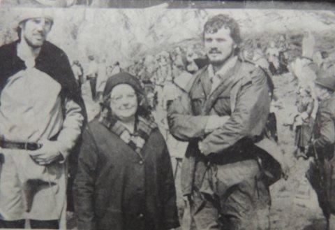 Sentrale personer i 1978: Hans Viggo Gaarden(f.v.), Ingeborg Aasen Vatten og formann i Tustna kulturstyre, Hallvard Husby.