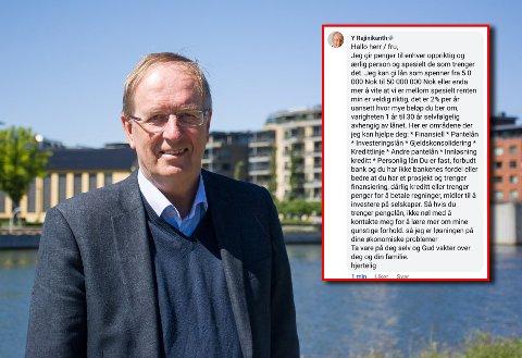 Et bilde av Petter Berg ble misbrukt i et svindelforsøk på Facebook. Selv visste ikke ordføreren noe om dette før han ble kontaktet av Tønsbergs Blad.