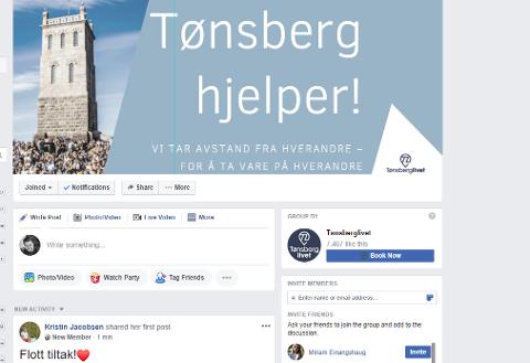 HJELPER: Facebook-gruppa vokser i rekordfart fredag ettermiddag.