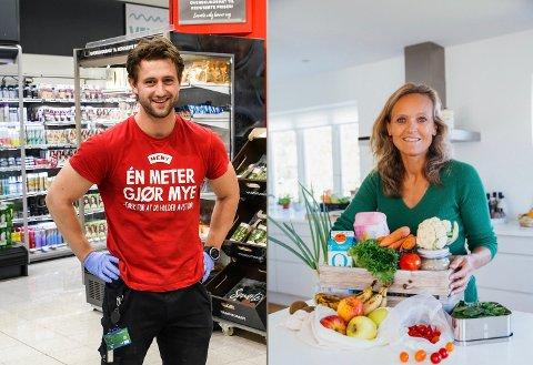 MATREDDERE: Christian Steen-Hansen på Meny Tolvsrød. Mette Nygård Havre i folkeaksjonen «Spis opp maten».