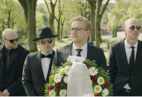 HVITE GUTTER: Denne uken er disse fire på Tjøme for å spille inn en episode til den nye sesongen av «Hvite gutter».