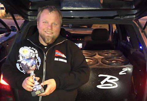 Åge Morten Evensen er meget godt fornøyd med seieren.