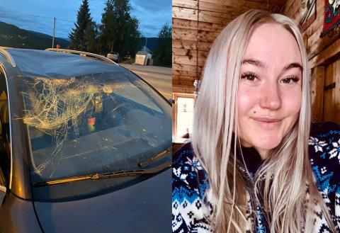 DRAMATISK NATT: Elisabeth Tågerud (24) opplevde elgpåkjørselen som dramatisk og frustrerende. Hun nådde ikke gjennom til fallviltgruppa.