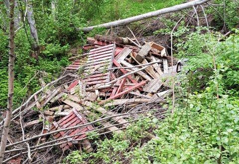 SØPPELIGRUVE:Søppelfylling ved Oppegårdskollen på Romeriksåsen, der det går vei opp fra Aas gård.