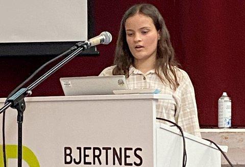 VANT: Miriam Reshane vant realfagkonkurransen på Bjertnes.