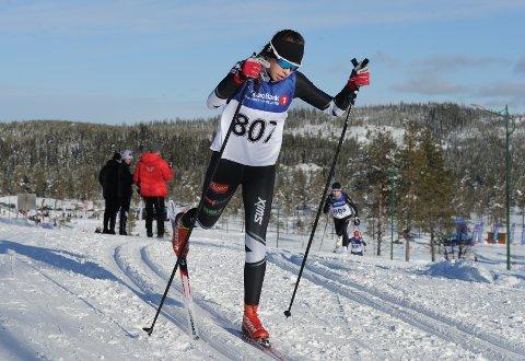 I TOPPEN: Maja Ellefsen imponerte da hun gikk inn til femteplass i debuten i Hovedlandsrennet