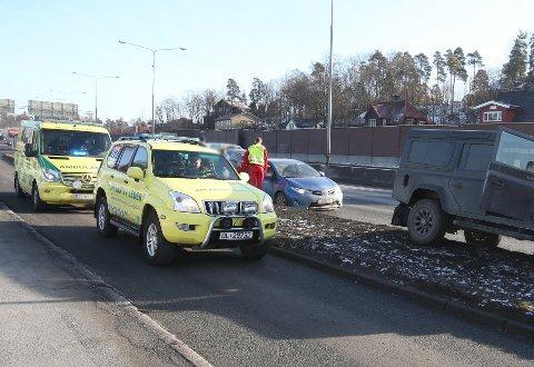 RYKKET UT: Ingen personer kom fysisk til skade, og bilene var kjørbare etter sammenstøtet.