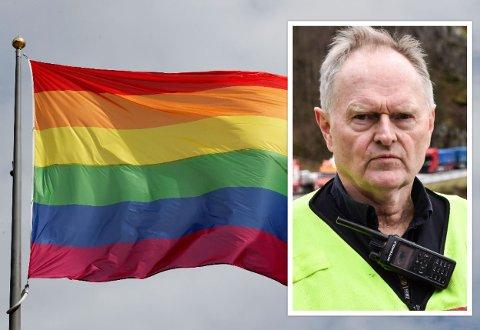STRID: John Skåland er leder for arbeidsmiljøutvalget i Lund kommune, og sier at flere ansatte har tatt kontakt med ham etter at det ble kjent at kommunen kan komme til å henge opp regnbueflagg ved kommunale eiendommer.