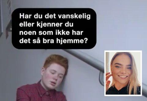 Linnea Lotvedt skal lage tre av 12 TikTok-videoar med budskap om å støtte andre.
