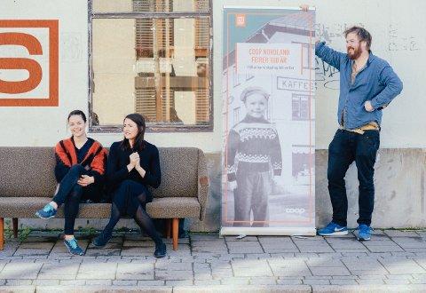 Vinnerteamet fra Whitefox og Coop Nordland: Cicilie Solstad Schjølberg (f.v.), Lene Vikjord og Martin Losvik.