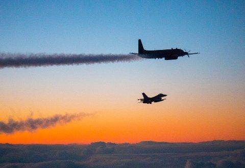 Norsk F-16 på QRA-oppdrag.