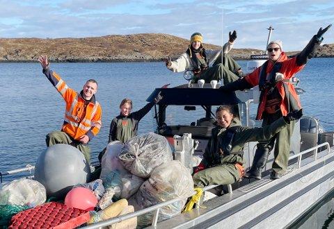 Imponerende: Ryddegjengen i «In the same boat»  gjør en imponerende innsats. Så langt har de ryddet rundt 15 tonn søppel.