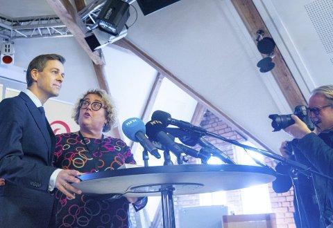 28. september holdt Knut Arild Hareide talen der han varslet ta han ville samarbeide til venstre med Ap, og ikke gå inn i Solberg-regjeringen. Nå opplever han stadig økning i medlemstallet og god fremgang på BA-målingen i Bergen. FOTO: NTB/Scanpix