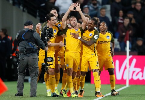 Evigunge Glenn Murray har allerede notert seg for åtte seriemål for Brighton denne sesongen. (AP Photo/Kirsty Wigglesworth)