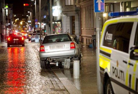 Alkohol og bilkjøring hører ikke sammen, men mange tar likevel sjansen på å kjøre etter å ha drukket, viser en ny undersøkelse. Bildet er fra en tidligere episode i Håkonsgaten hvor det var mistanke om promille.