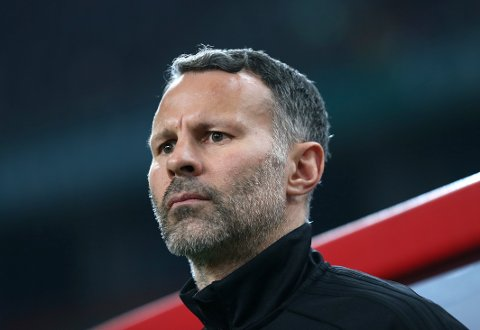 Ryan Giggs er andslagssjef for Wales.  (Color China Photo via AP) CHINA OUT