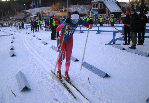 Marthe Karlsen med 19. plass i norgescuprenn for juniorer på Voss. (Arkivfoto John Eirik Karlsen)