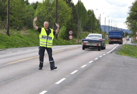 Rullende Politi: Stortingsrepresentant Per Olaf Lundteigen (SP) er ikke nådig i sin kritikk av politireformen.ILLUSTRASJONSFOTO