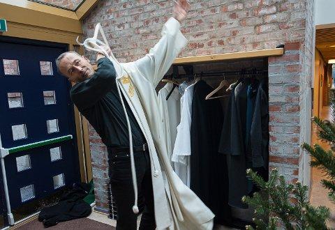 20. GANG: I år blir det 20. gang Runar Liodden holder julegudstjeneste i Åmot og Nykirke.