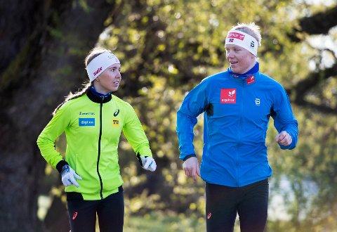 Søsknene Emma og Martin Kirkeberg Mørk bor sammen, trener sammen - og nå er de på samme landslag i langrenn.