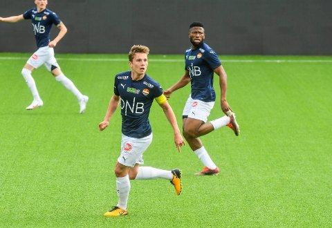 BLIR KAPTEIN?: Johan Hove var SIFs kaptein fra start i søndagens treningskamp mot Fredrikstad.