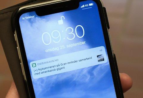 Hold deg oppdatert på lokale nyheter, og få nyhetsvarsel fra Enebakk Avis rett på din mobil.