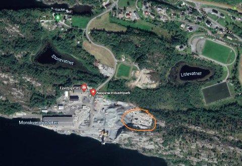 MASSEUTTAK. Ramsdal Maskin AS har fått konsesjon til å lage masseuttak i dette området på Nesjane.
