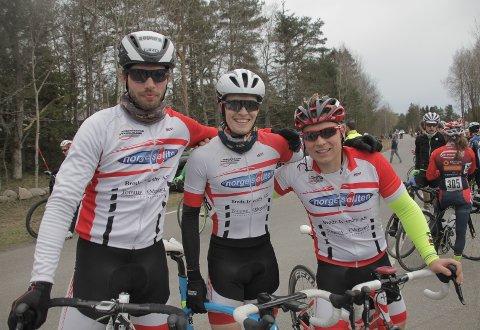 Seniorlaget her representert ved fra venstre Snorre, Andreas og Martin