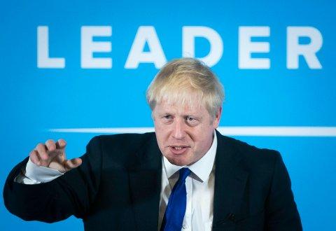 Boris Johnson var soleklar favoritt og ble som ventet utropt som toryenes nye leder. Foto: Danny Lawson / PA / AP / NTB scanpix