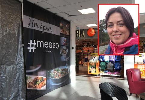 Takeaway: Elisabeth Jensen (innfelt) og ektemannen Thomas gleder seg til lokalene i Torvbyen blir klare. Neste uke åpner de hurtigmat-stedet Meeso.