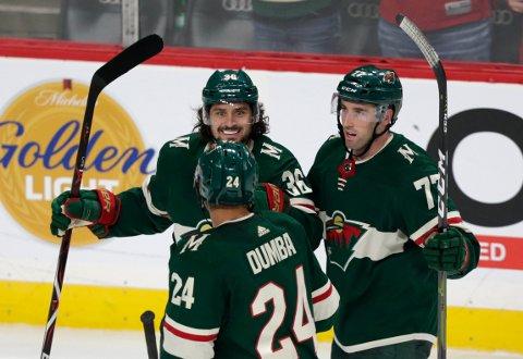 Mats Zuccarello (36) har hatt en svak start i NHL med Minnesota Wild.