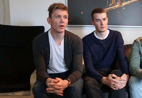 Daniel (til venstre) og Markus Hoelgaard skal ikke sykle Tour des Fjords denne uka.