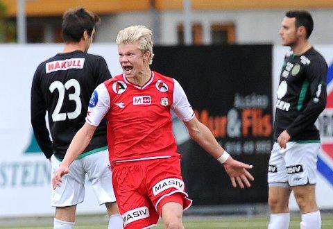 Erling Braut Haaland scoret to mål mot Ålgård FK for fire år siden. Kampen var med å sende Ålgård ned til fjerdedivisjon.