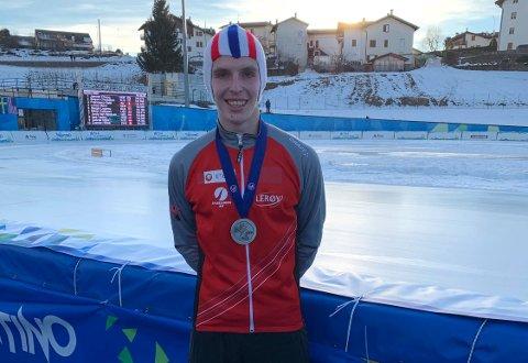 SØLVGUTTEN: Hallgeir Engebråten var ni tiendeler fra VM-gullet på 5000 meter i junior-VM lørdag.