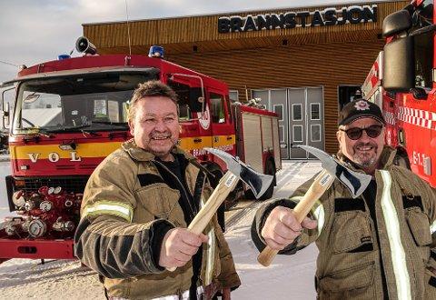 SLUTTER SNART: Jan Berg, til høyre, pensjonerer seg om ikke lenge, mens Tor Agne Hammeren skal gjøre noe annet.