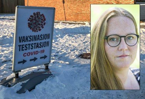 KREVENDE SITUASJON: Nord-Odal-ordfører Lise Selnes står midt i en situasjon med trolig flere tilfeller av mutert virus. –  Det er betryggende å ha tett kontakt med Folkehelseinstituttet, sier hun.
