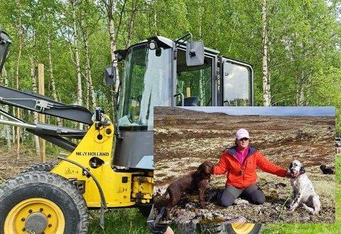 Gunn Marit Fjellskogen får endelig realisert prosjektet. I helga er både folk og maskiner på plass.