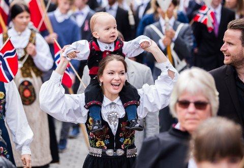I år kan du se direktesending fra blant annet barnetoget på Lillehammer 17. mai.