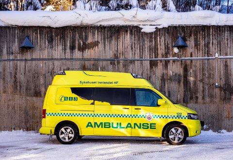 Ambulanse fra ambulansetjenesten i Innlandet.