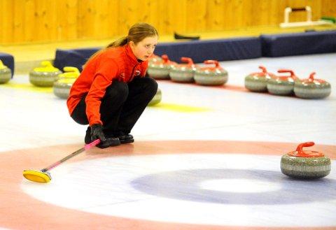 Lillehammer Curlingklubbs juniorlag. Martine Vollan Rønning,