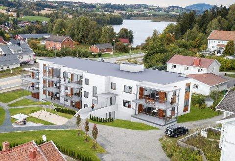 NYBYGGET: Slik blir nybygget i Sandødegården, med 11 leiligheter.