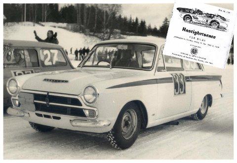 DEBUT: Her står legenden Trond Schea klar til start på Bergstjernet i Brandbu i bilen det kun ble produsert 51 eksemplarer av.