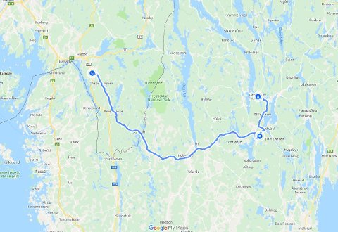 BILJAKT: Den svenske bilføreren kjørte en distanse på over 80 kilometer før han til slutt ble stanset av norsk politi ved Idd kirke i Halden natt til lørdag 1. juni.