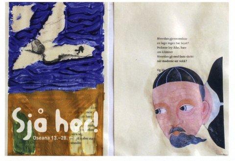 Jondal: Bidraget frå Eivind Haavik (10) er trykt på invitasjonane til utstillinga. Ser de inspirasjonen?