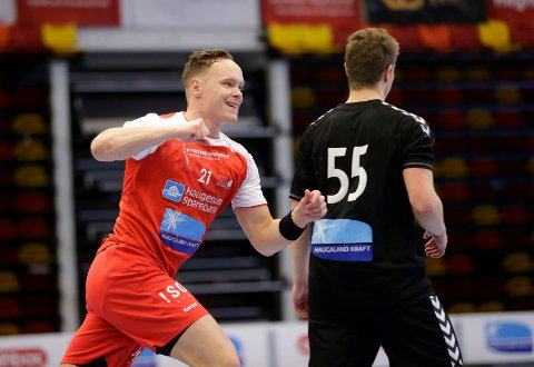 TOPPSCORER: Johnny Landberg scoret sju mål da HHK slo Sandefjord.