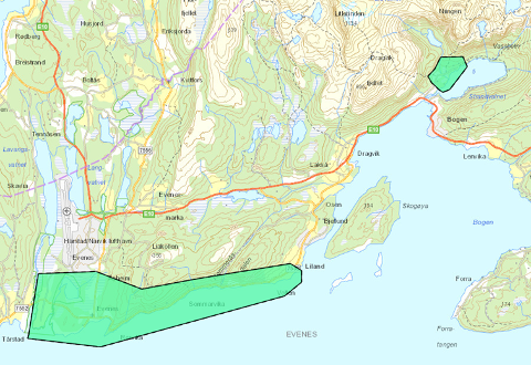 Når området Liland-Tårstadosen samt adressene i Niingsveien ved Strandvatnet endelig får fibertilbud vil nesten hele Evenes kommune ha bredbåndsdekning.