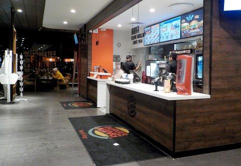 BURGER KING: Mattilsynet var nylig ved Burger King-restauranten på Grelland for å sjekke matsikkerheten.