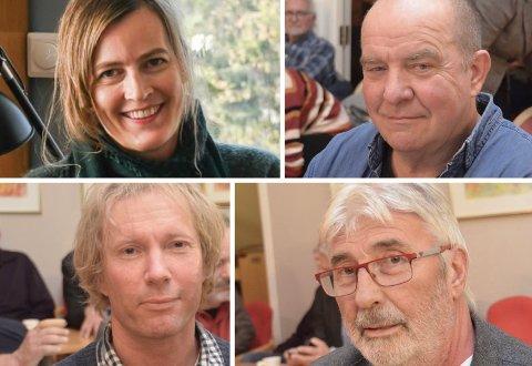 ALTERNATIVT BUDSJETT: Lena Faye-Lund Sandvik (MDG), Terje Mindrebø (Rødt), Per-Erik Schulze (MDG) og Øyvind Olsen (SV).